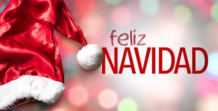 Merry Christmas (in Spanish) Stock Photo