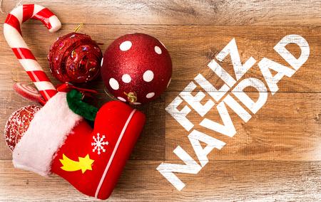 Merry Christmas (in Spanish) Imagens