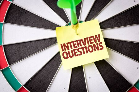 Dart with the words Interview Questions