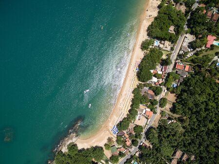 Aerial view of ilhabela, brazil