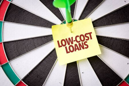 Dart with the words Low-Cost Loans