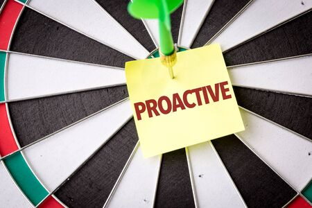 Dart with the word Proactive
