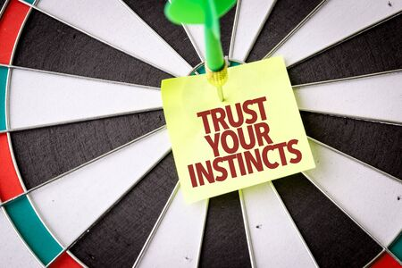 Dart with the words Trust Your Instincts