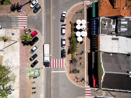 Top view of a road in a city Archivio Fotografico