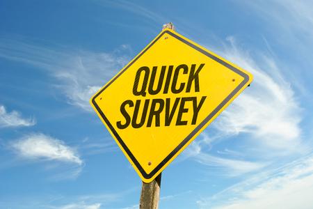 reviews: Quick Survey Stock Photo