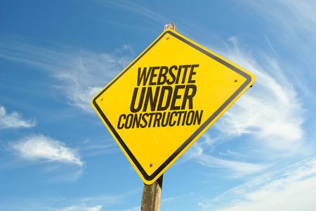 website under construction Reklamní fotografie