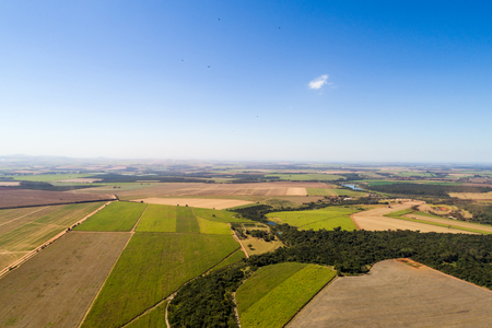 Aerial View of Rural Area in Brazil Stock Photo