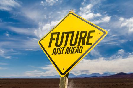 Future Just Ahead Stock Photo