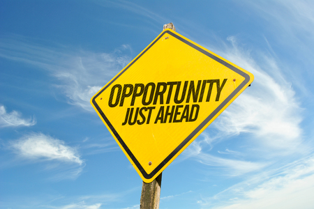 challenges ahead: Opportunity Just Ahead Stock Photo