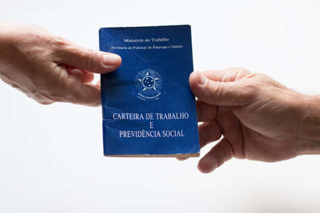 "Brazilian labor portfolio. Written ""Work and Social Security Card"" in Portuguese Standard-Bild"