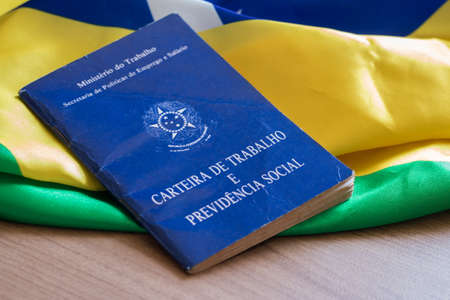 """Brazilian work card. Written """"Work and Social Security Card"""" in Portuguese"""