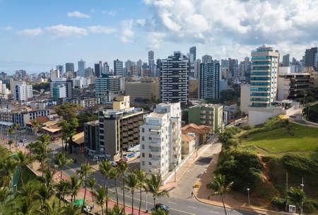 skyline aerial view of the city of Salvador Bahia.