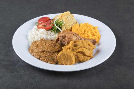 Caruru dish of typical Brazilian food from Bahia.