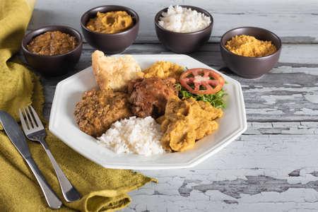 Caruru traditional Afro-Brazilian food typical of Bahia.
