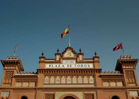 plaza de toros: The Plaza de Toros de Las Ventas in Madrid, Spain Stock Photo