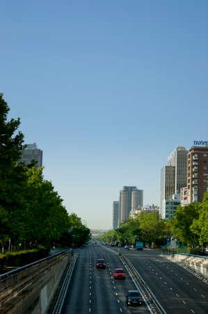 castellana: Avenida Paseo de la Castellana, Torre road to Europe