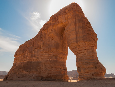 Elephant Rock, a giant rock in the shape of an elephant in Al Ula, Saudi Arabia (KSA) Stok Fotoğraf
