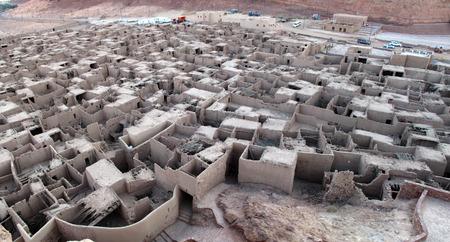 Remains of the ancient city of Al-Ula near Madain Saleh in Saudi Arabia (KSA)