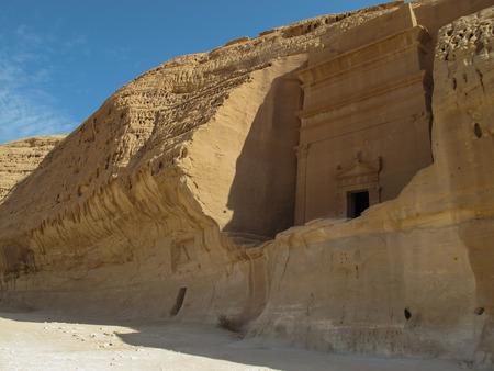 Madain Saleh, archaeological site with Nabataean tombs in Saudi Arabia (KSA) Stok Fotoğraf