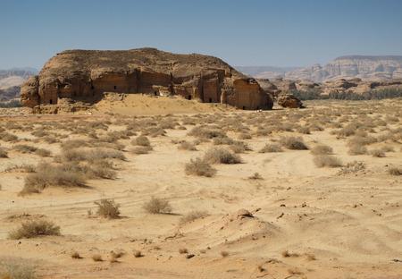 Madain Saleh, archaeological site with Nabataean tombs in Saudi Arabia (KSA) Stock Photo