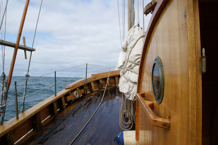 On board an ancient whaler sailing the Skjalfandi bay in northern Iceland.