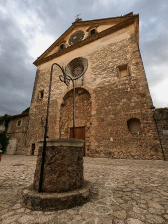Valldemossa Charterhouse. Facade of the historic place of The Carthusian Monastery of Valldemossa in Majorca, Spain. Historic buildings
