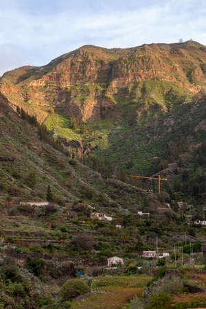 The Agaete valley on the island of Gran Canaria, Spain. Travel concept