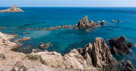 Beautiful reefs of the Natural Park of Cabo de Gata - Nijar called