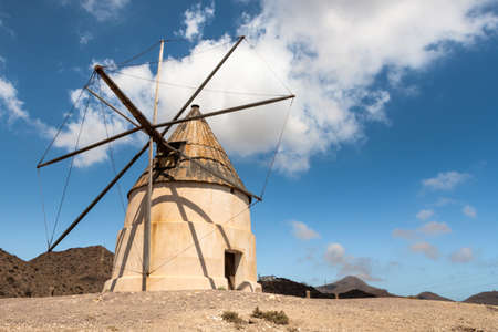 Old windmill in the natural park of