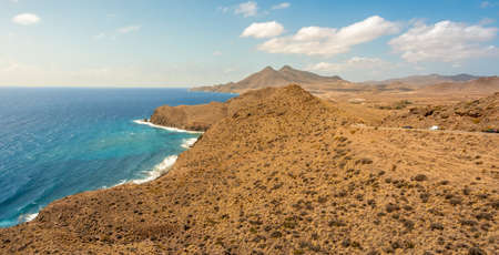 Coast view in Natural Park of Cabo de Gata, Spain, from the viewpoint called