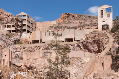 Rodalquilar gold mine ruins, in