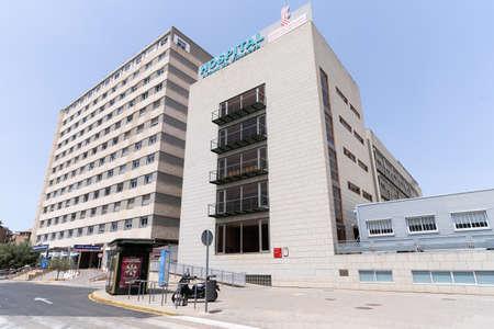 Valencia, Spain -July 24, 2021: Arnau de Vilanova public hospital, one of the most important hospitals in Valencia