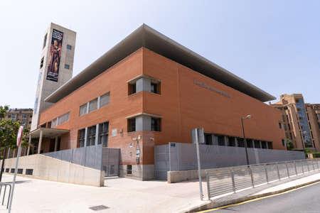 Valencia, Spain -July 24, 2021: Church dedicated to Josemaria Escrivá de Balaguer, founder of Opus Dei, in the city of Valencia Editorial