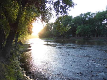 Sunrise on the riverfront