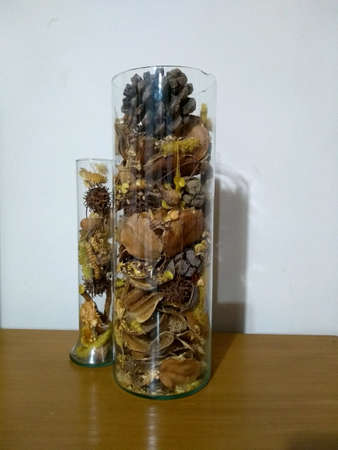 Decorative bottles with seeds