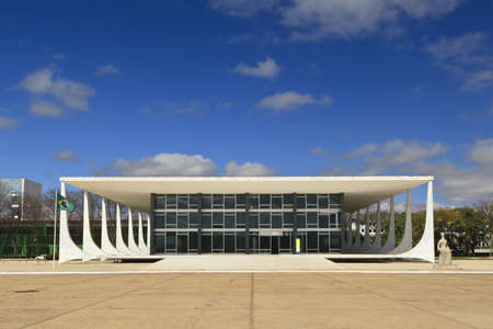 Supreme Federal Court building located in the city of Brasilia, Brazil, is the  highest court of law for constitutional issues in the country. Stock Photo - 9261071