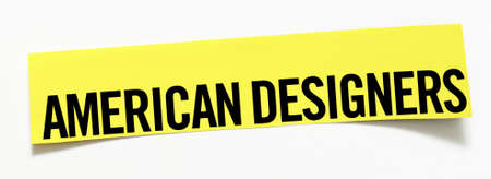 Clipping American Designers  word on white background