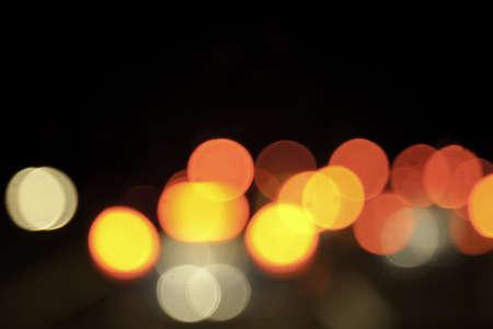 Multi Colored Defocused Light on Black Background Stock Photo