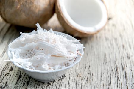 shavings: Coconut shavings in coconut