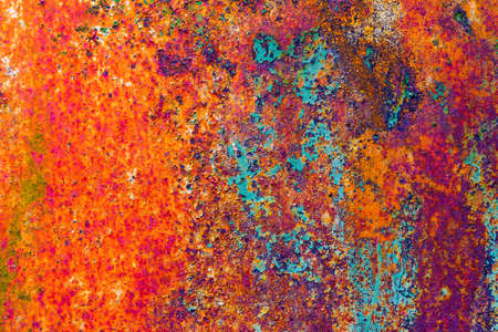 peeledoff: rusty metal with the peeled-off paint Stock Photo