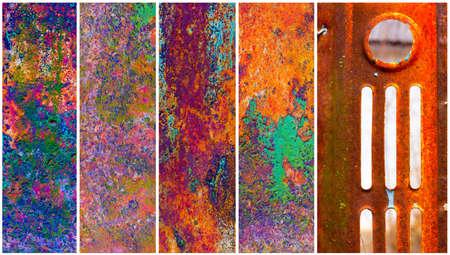 peeledoff: collage rusty metal with the peeledoff paint