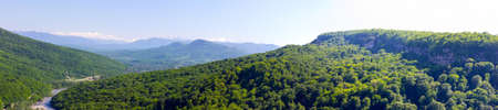 foothills: panorama summer in the Foothills of Caucasus