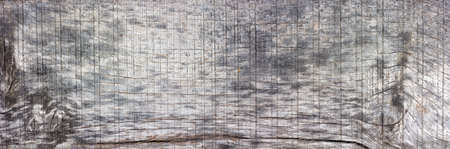 barn board: panorama of old wood texture with cracks and knots, bleached oak, barn board. big size. Copy space. Free space for text Stock Photo