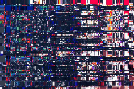 screen: colorful abstract background texture. glitches, distortion on the screen broadcast digital TV satellite channels