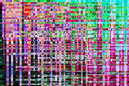channels: colorful abstract background texture. glitches, distortion on the screen broadcast digital TV satellite channels