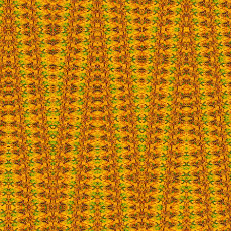 square image: abstract yellow geometric background texture with a pattern from leaves. square image Stock Photo
