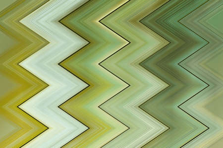 reflexion: geometric zigzag decorative background texture of blur green strips Stock Photo