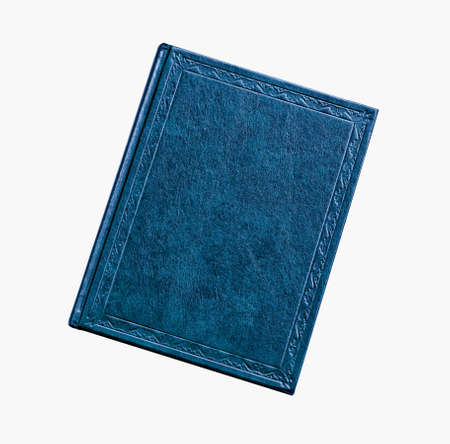 writ: the book is blue color isolated on white background