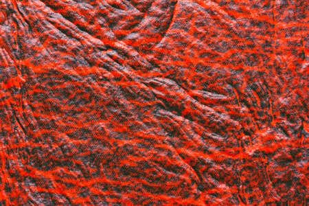 shrunken: red orange abstract background texture faux leather with space for text Stock Photo