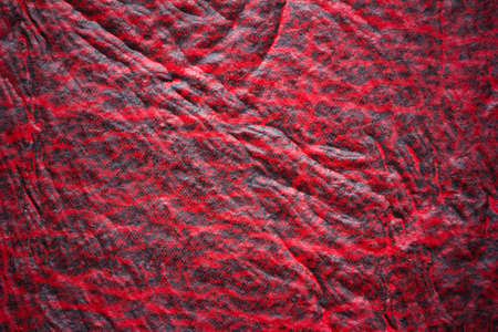 shrunken: red abstract background texture faux leather with space for text Stock Photo